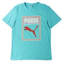 Puma Mens Art Deco Blue Running Fitness Workout T-Shirt Athletic L Bhfo 0314 Photo