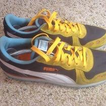 Puma Mens Athletic Sneakers Gold Black White  Men Shoes 9.5 Ked Photo