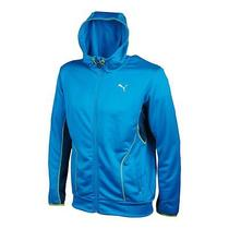 Puma Mens Hooded Zip-Up Sweatshirt With Side Pockets Photo