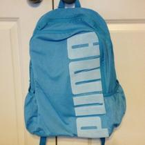 Puma Mesh Backpack Gym Bag Aqua Nwt Photo