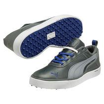 Puma Monolite Golf Shoes - White/blue Mens Size 8 New Photo