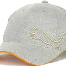Puma New Cut and Sew Beige Buckle Adjustable Hat Cap One Size Osfa Photo