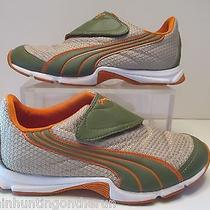 Puma /orange/green/beige Velcro Bike Running Tennis Shoes Sz 6.5 Mint  Photo