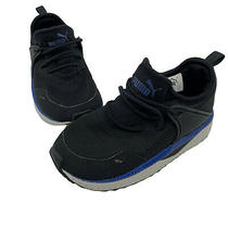Puma Pacer Next Cage Sneaker Toddler Black Blue Slip on Size 9c Photo