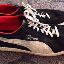 Puma Pele Brasil Black and White Sneaker Brazil Shoes Size 13 Suede Photo