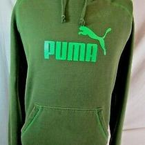Puma Pullover Hoodie Sweatshirt Green Men's Medium M Photo