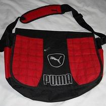 Puma Red & Black Messenger Crossbody Bookbag  Photo