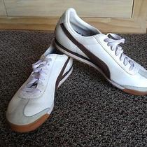 Puma Roma Classic Retro White Leather Sz 8.5 Photo