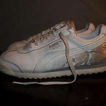 Puma Roma Mesh Wn's White/metallic Silver Athletic Shoes - Women's Size 9.5 (Us) Photo