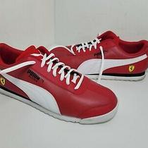 Puma Roma X Scuderia Ferrari Lace Up Sneakers  Casual Sneakers Red Mens Size 9.5 Photo