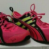 Puma Running Eco Ortho Lite Women's Size Us 8.5 Pink/yellow Reflective Strips Photo