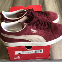 Puma Shoes Classic Suede Maroon/burgundy Sneakers Size 9 Photo