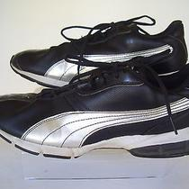 Puma Silver / Black Trim Cell Running Shoes Sz 11 Photo