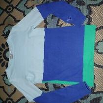 Puma Size Xs Blue Colorblock Shirt Sweater Top Green Photo