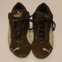 Puma Speed Cat Brown & White Vintage Womens Suede/leather Sneakers Tennis Sz 8.5 Photo