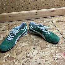 Puma Sport Lifestyle Green & White Sneakers - Mens Size 9.5 Photo