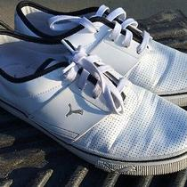 Puma Sport Lifestyle White Synthetic Leather Fashion Sneakers- Men's Size 9.5 Photo