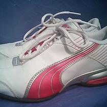 Puma Sport Lifestyle Women's Running Shoes - Size 6.5 - White W/ Pink Stripes Photo