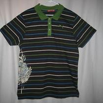 Puma Striped Knit Printed Polo Shirt Men's Xl Tg 56/58  Photo