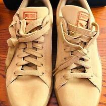 Puma Suede Mens Classic Sneaker Khaki/metallic Copper Size 9 Photo