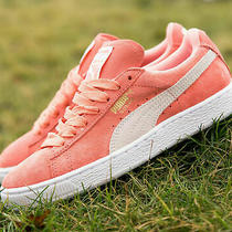 Puma Suede Sneaker- Us Womens Size 8.5 - Coral/white/desert Flower Photo