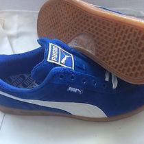 Puma Teku Suede Athletic Mens Sneakers Size Us 12. Blue/white Photo