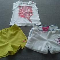 Puma Toddler Girls Shirt Top Shorts Outfit 3pc Lot Size 2t 24 Mos Set   Photo