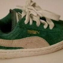 Puma Toddler Sneakers Shoes Size 5 Suede Green Kelly  I32 Photo