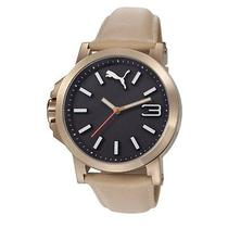 Puma Unisex Pu103462005 Ultrasize Lds Analog Display Quartz Beige Watch Photo
