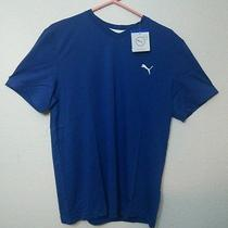 Puma v-Neck Tshirt Large Blue Mens Photo