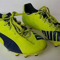 Puma Women's Size 8.5  Soccer Cleats Lime Green Gray Gently Worn  8 1/2 M Photo