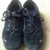Puma Women Sneakers Black and Purple Size 7 Photo