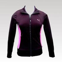 Puma Womens Black/pink Track Suit Jacket - Medium Photo