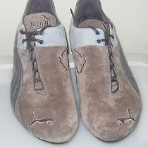 Puma Womens Running Shoes/ Womens Track Shoes / Size 9.5 Brown/blue  Suede  Photo