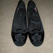 Puma Zandy Black Patent Ballet Flats in Size 8.5-Euc Rare Photo