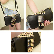 Punk Style Womens Totes Rivet Messenger Satchel Handbags Shoulder Hobo Clutches Photo