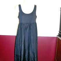 Pure Dkny Black Cotton/silk Sleeveless Dress - Size 6 Photo