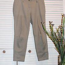 Pure Dkny Cotton Beige Women's Cotton Pants Size 12 Photo