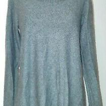 Pure Dkny Gray Cashmere Cowl Neck Long Sleeve Sweater Womens Size S Photo