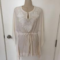 Pure Dkny White Embroidered Coverup S/p Photo