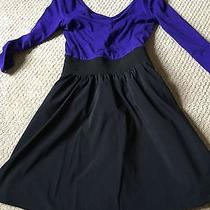 Purple and Black Party Dress Photo