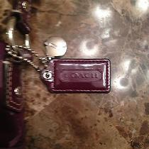 Purple Authentic Coach Crossbody Bag With Matching Wallet Photo