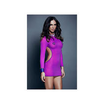 Purple Backless Chemise by Icollection 1908 Purple One Size Fits All Photo