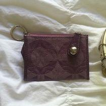 Purple Coach Key Fob Photo