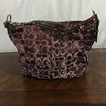 Purple Coach Shoulder Bag Photo