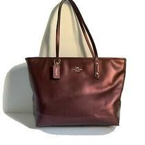 Purple Coach Tote Bag Authentic Excellent Condition Photo