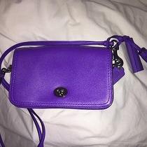 Purple Coach Turnlock Crossbody in Glovetanned Leather  Photo