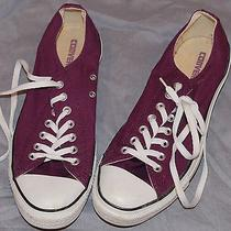 Purple Converse Shoes Mens Low Top 9.5 Photo