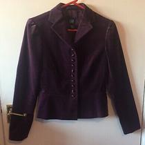 Purple Cotton Velvet Cropped Jacket Size Xs by Gap Lined Photo