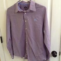 Purple Express Button Front Shirt- Small Photo